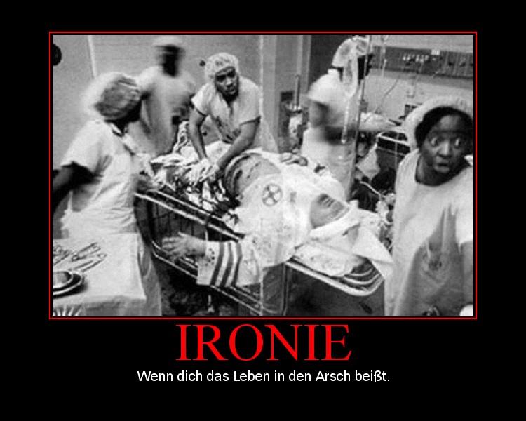 das leben ist schön ironisch